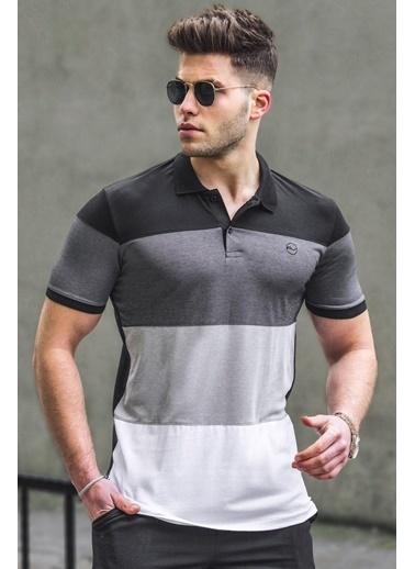 Madmext   Polo Yaka Erkek Tişört 5103 Siyah